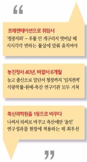 """[Cover Story - 농촌진흥청] """"조정이 아닌 래프팅한다는 자세로 농촌진흥청 이끌 것"""""""