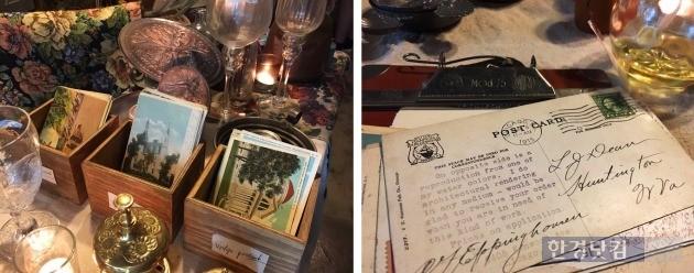 1900년대 옛 엽서들. 오데옹 상점 주인 장세희 씨는 시간을 거슬러 여러 사람들의 사연이 담긴 엽서가 가장 특별하다고 했다. / 사진=조아라 기자 rrang123@hankyung.com