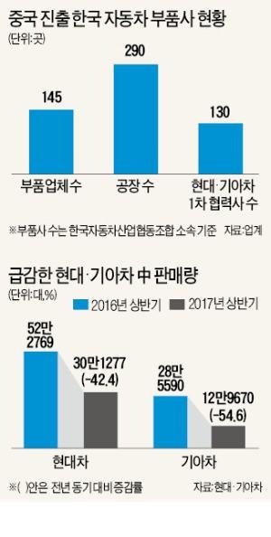 중국 '사드 보복' 구조조정의 서막…'빈사상태' 현지 자동차 부품사, 인력 절반 감축