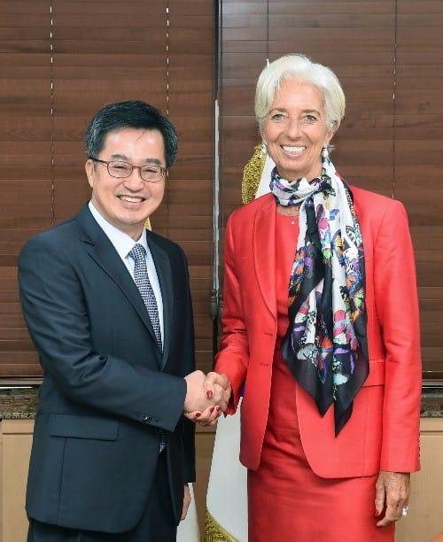김동연 부총리, IMF 총재에 새정부 경제정책방향 설명
