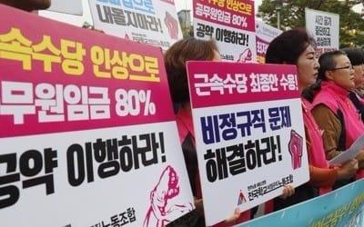 """학교비정규직 올해 임금협상 타결…""""25일 총파업 유보"""""""
