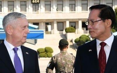 한·미 국방장관, 오늘 서울서 회담… 미국 전략무기 전개 강화 논의