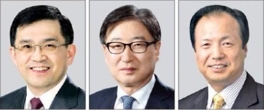 (왼쪽부터) 권오현 삼성종합기술원 회장, 윤부근 CR담당 부회장, 신종균 인재개발담당 부회장