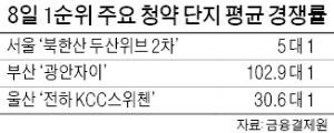 """""""전매제한전 막차 타자""""… 부산서 최고 경쟁률 216 대 1"""