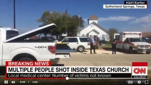 미 텍사스 교회서 총기난사 참극… 26명 사망·20명 부상