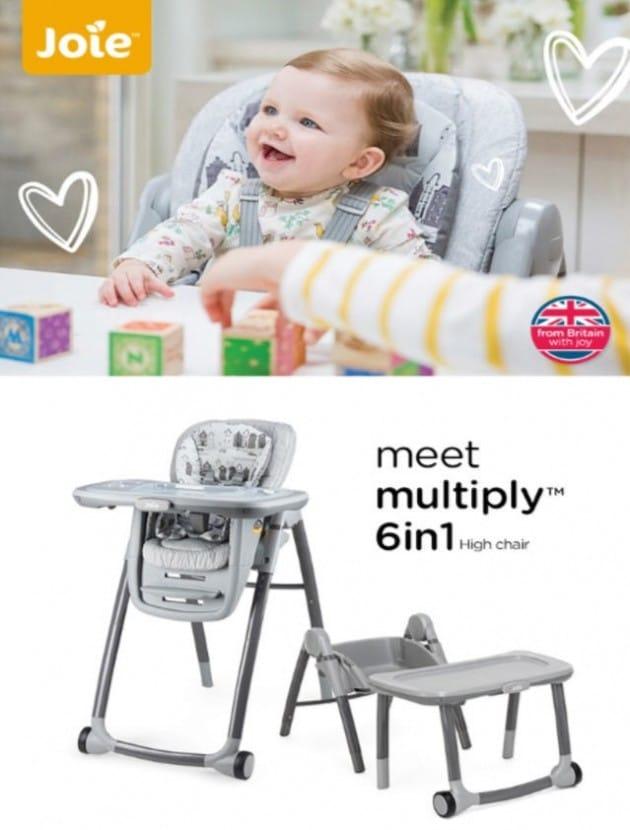 유아식탁의자는 오래 못쓴다고? 조이, 다기능 식탁의자 '멀티플라이' 론칭