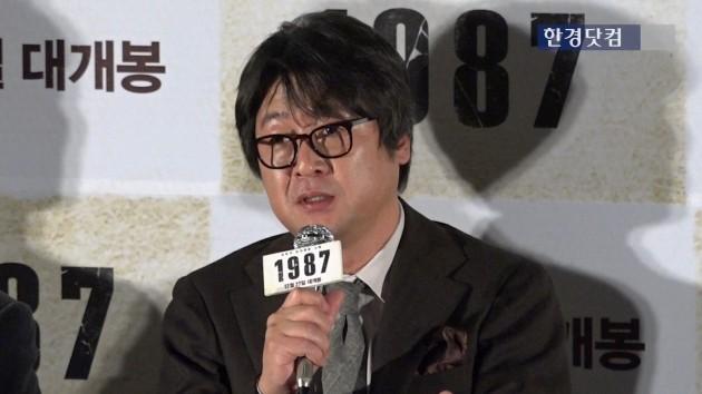 """[영상] 영화'1987' 김윤석,""""'책상을 탁치니 억하고' 이 말을 하게 될 줄 몰랐다"""""""