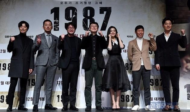 '1987' 장준한 감독과 출연 배우들