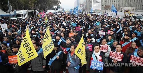 의사 3만명 '문재인 케어' 반대 집회… 4시간여 도심 혼잡