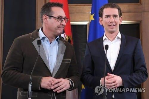 오스트리아 우파-극우 연정 출범… 31세 최연소 총리 탄생
