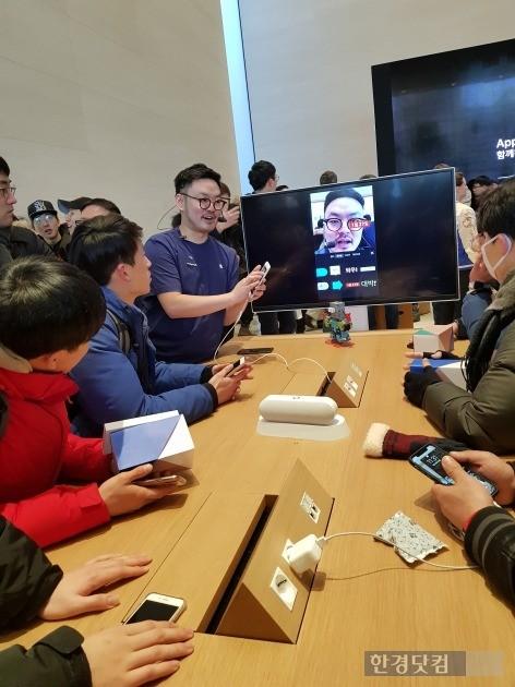 [현장+] 8년을 기다린 국내 첫 '애플스토어' 가보니…