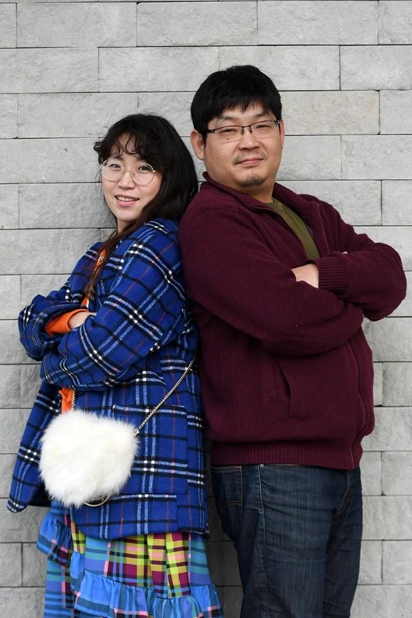 영화 'b급며느리' 선호빈 감독과 김진영 씨 / 사진 최혁 기자