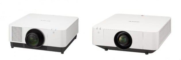 (왼쪽부터)소니의 1만2000lm, 6100lm 신규 레이저 프로젝터