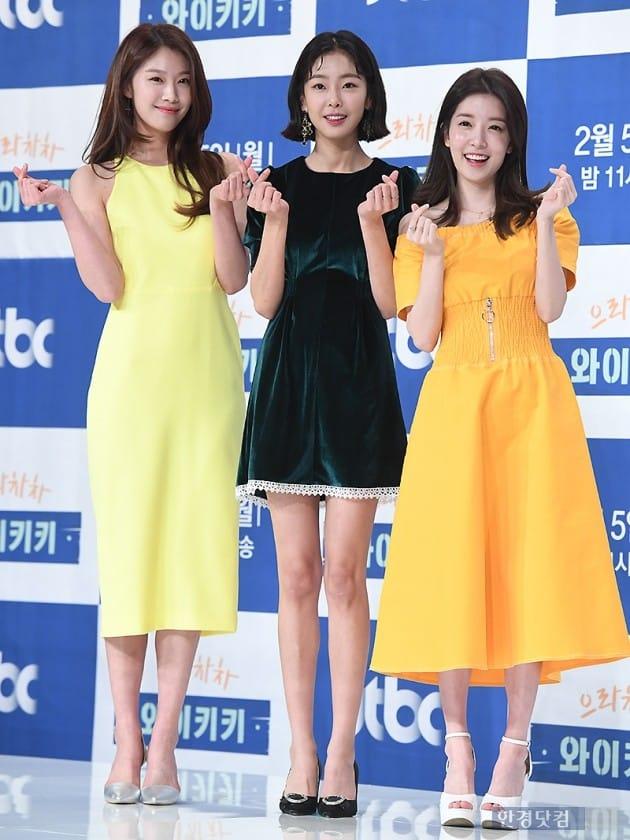 [포토] 이주우-고원희-정인선, '세 미녀의 눈부신 미모 대결~'