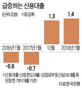1월 신용대출 1.1조↑… 가상화폐 연관성 조사