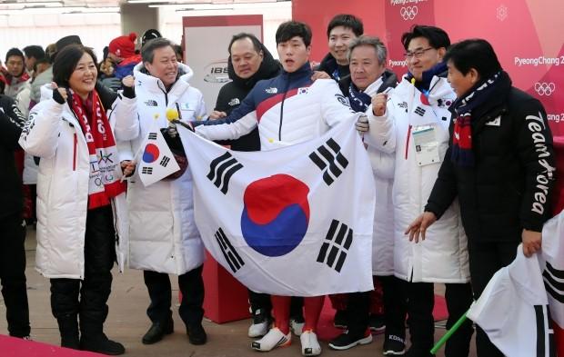 윤성빈 경기 관람 특혜 의혹에 휩사인 박영선 의원 /사진=연합뉴스