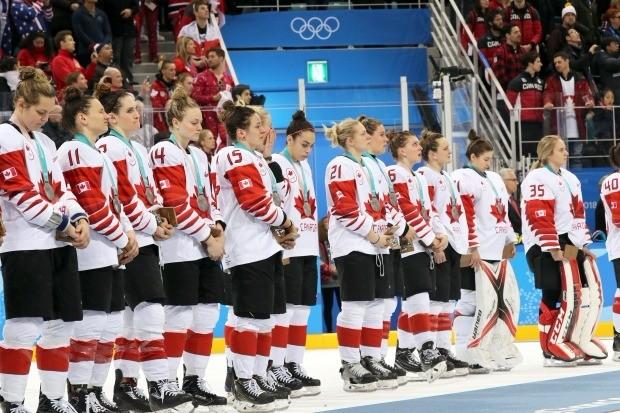 캐나다 여자하키 우울한 은메달(사진=연합뉴스)