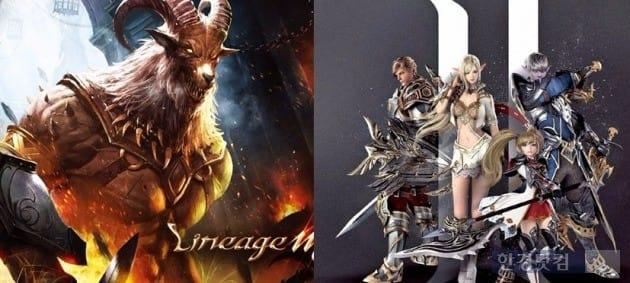 모바일게임 '리니지 형제'로 불리는 '리니지M'(왼쪽)과 '리니지2: 레볼루션'. / 사진=엔씨소프트·넷마블 제공