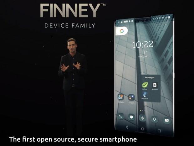 시린랩스가 올 하반기 선보이는 블록체인 스마트폰 '핀니'.