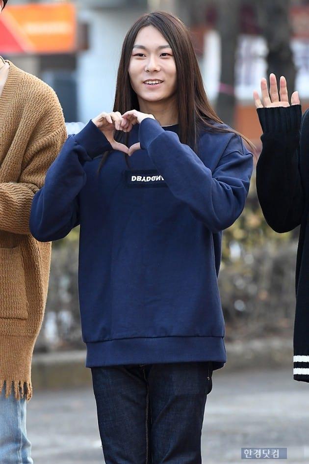 [포토] 장문복, '귀엽게 웃으며 하트~'