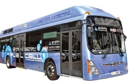 울산 시내노선에 투입될 수소전기버스.