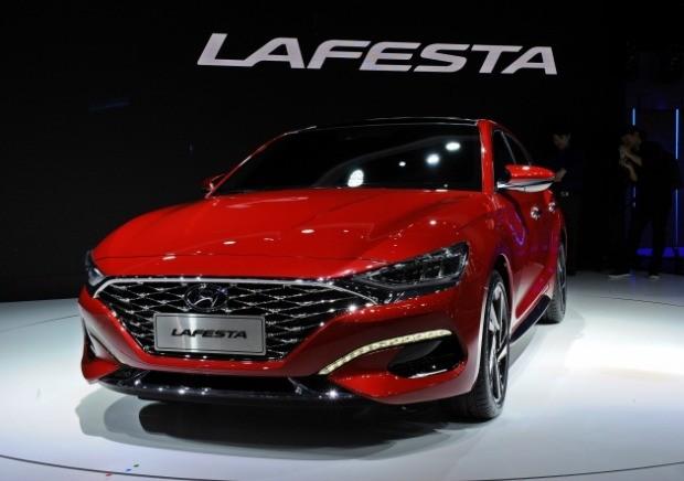 현대자동차가 중국 시장에 맞춤형으로 개발한 스포츠 세단 '라페스타' / 사진=박상재기자