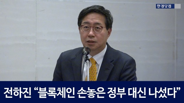 """[HK영상] 전하진 """"블록체인에 손놓은 정부 대신 자율규제 나섰다"""""""