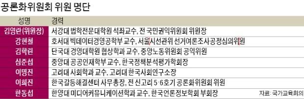 대입개편안 공론화위원장에 김영란