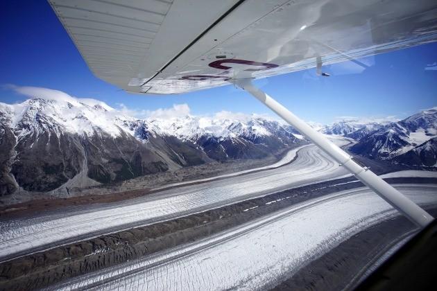유콘 클루아니 국립공원 빙원 투어