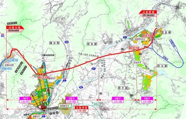 진접선 노선도. 한국철도시설공단 제공