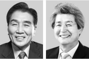김지완 회장(왼쪽), 김태오 회장 내정자.