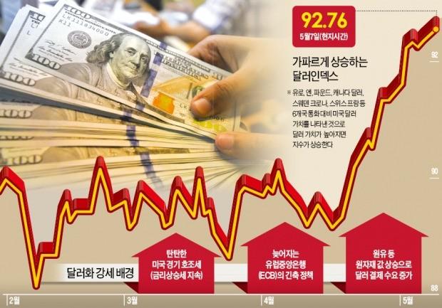 美금리 상승세에 달러도 고공비행… 신흥국서 자금유출 본격화