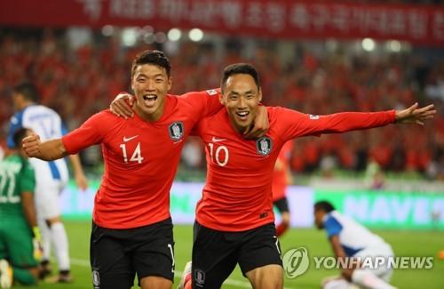 손흥민·문선민 연속골…신태용호, 온두라스전 2-0 승리