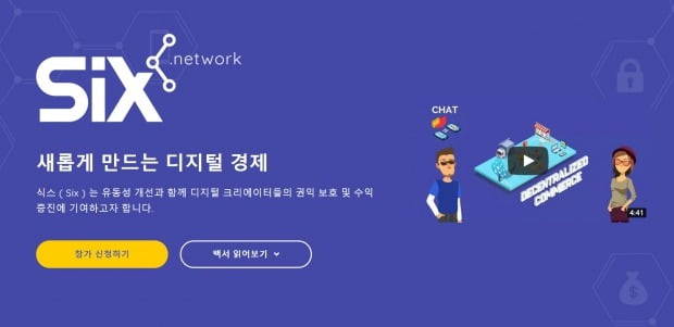 퓨쳐스트림네트웍스, 가상화폐 '식스' ICO 5.2억개 완판