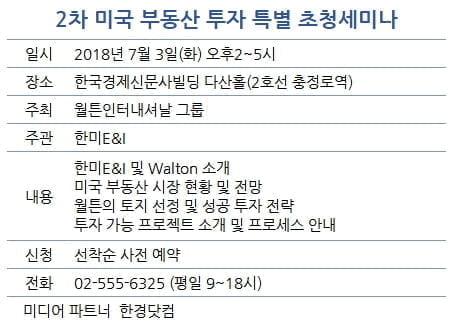 월튼그룹, 2차 미국부동산 투자 세미나···7월3일 개최