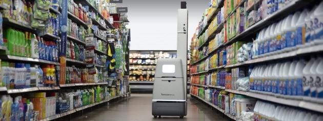 보사노바 로보틱스가 운영중인 매장관리 로봇.