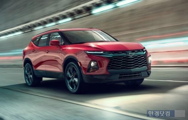 GM이 2019년초 북미 판매를 시작하는 신형 SUV 블레이저. (사진=쉐보레)