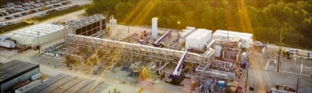 미국 텍사스주에 건설된 이산화탄소터빈 발전소.