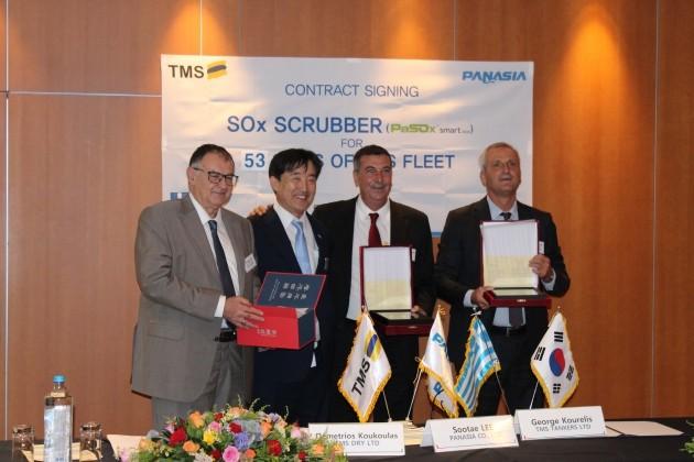 파나시아, 그리스 TMS 그룹선사와 750억원어치 선박배기가스 저감장치 계약