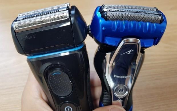 브라운 시리즈5 '5140S'(왼쪽)와  파나소닉 람대쉬 'BST6P'(오른쪽) 모습. 두 제품은 온라인에서 15만원대에 구입할 수 있다.