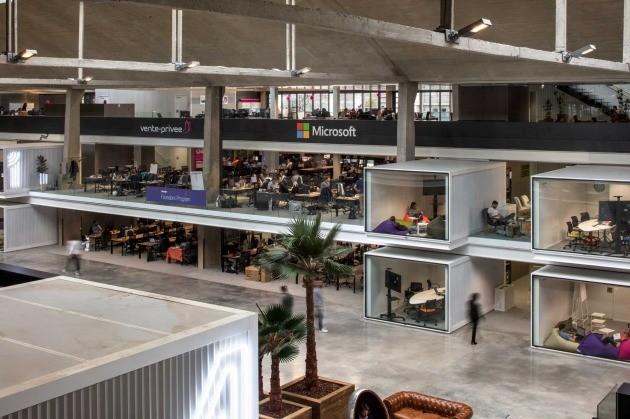 프랑스 정부가 설립한 세계 최대 스타트업 캠퍼스 '스테이션 F' 내부. 위시어폰 제공