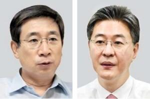 허남권 신영자산운용 사장(왼쪽), 이채원 한국투자밸류 자산 사장.