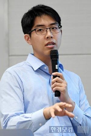 6일 한경닷컴 블록체인 세미나에서 강연하는 남성필 대표. / 사진=최혁 기자