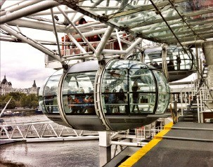 런던아이 관람용 캡슐.