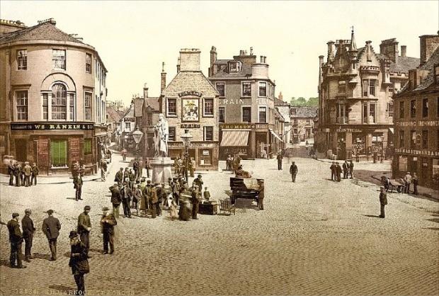 조니워커의 탄생지인 스코틀랜드 킬마녹의 19세기 초 풍경.