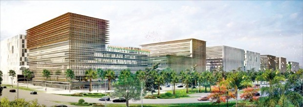 인도 뉴델리 남서부 드와르카 지역에 2027년 완공 예정인 인디아 국제 전시컨벤션센터(IICC) 조감도. /이상네트웍스 제공