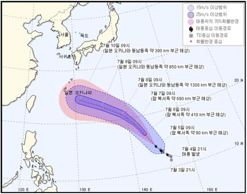태풍 '마리아' 괌 부근서 북서진… '한국에 영향'은 미지수