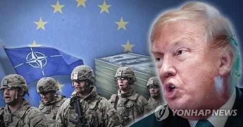 트럼프의 나토 안보무임승차 '타박'은 결국 美무기 판촉