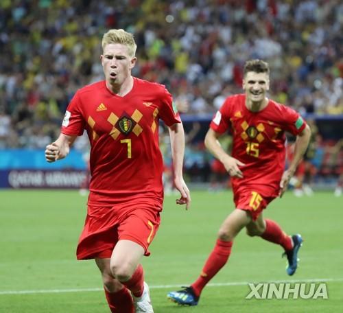 벨기에, 브라질 2-1로 제압…프랑스와 4강 대결