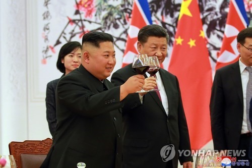 """주북 中대사대리 """"북중 친선협력 수호·발전은 확고부동 방침"""""""
